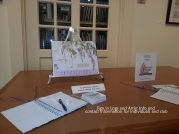 A Table for sign in and requests and for your marketing materials