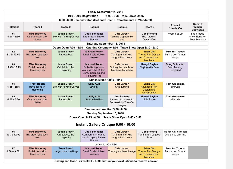 rocky mt 2018 schedule